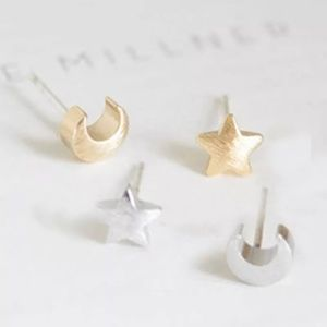 Jewelry - Star and Moon Earrings